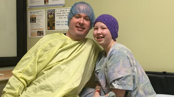 Erika R in hospital