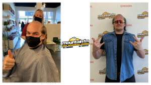 max shppard skullet head shave and mountain fm logo