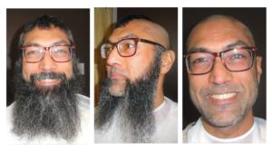 rajan head and beard shave progression pic